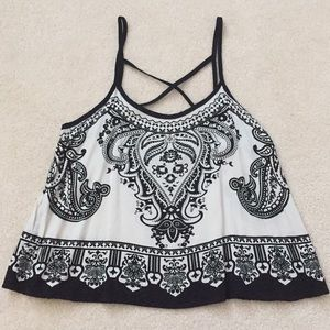 Forever 21 Black and White Tank // Size S